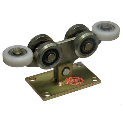 Wózek jezdny bramy 6-rolkowy , rolki stalowe - Profil 80x80