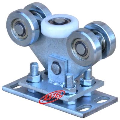 Wózek jezdny bramy 5-rolkowy , rolki stalowe - Profil 80x80