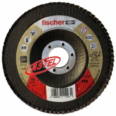 Ściernica listkowa 125mm, gradacja 60, Fischer