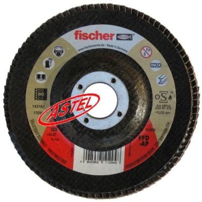 Ściernica listkowa 125mm, gradacja 80, Fischer